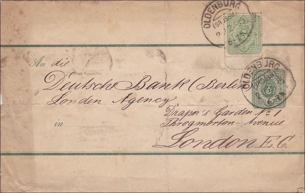 Brief Nach London Adresse : Brief von oldenburg nach london · philarena