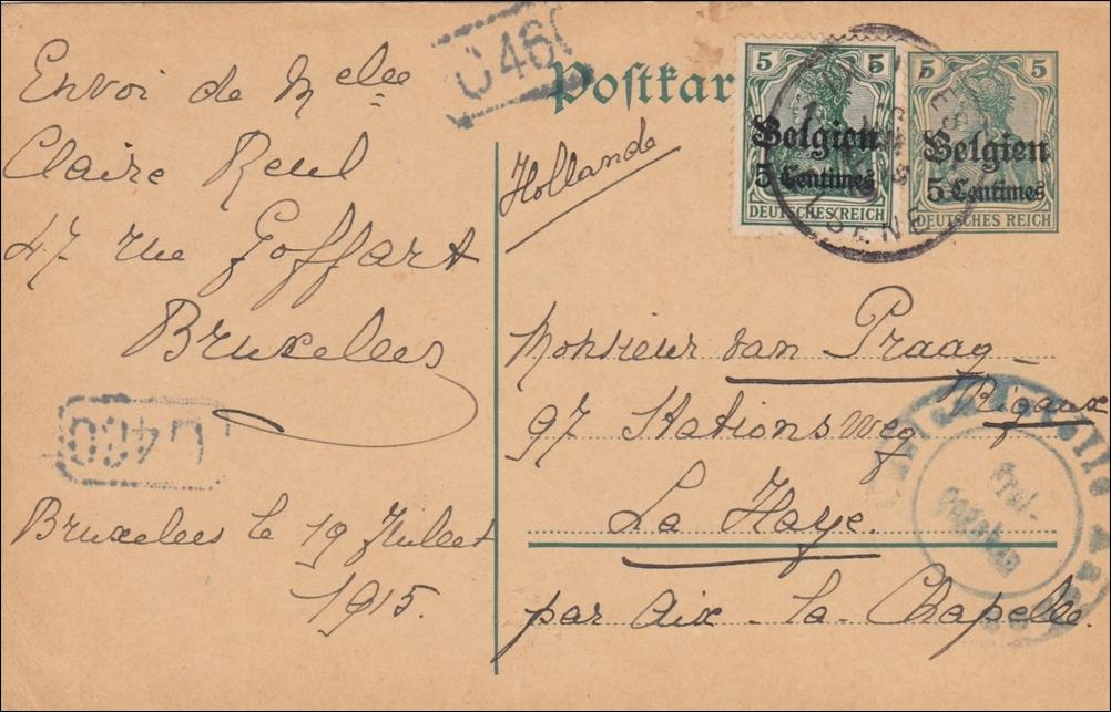 Porto Brief Von Deutschland Nach Belgien Philaseiten Sondertarife